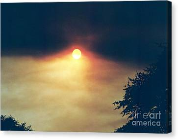 Canvas Print featuring the photograph Wildfire Smoky Sky by Kerri Mortenson