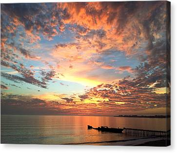 Wildfire Sunset Canvas Print