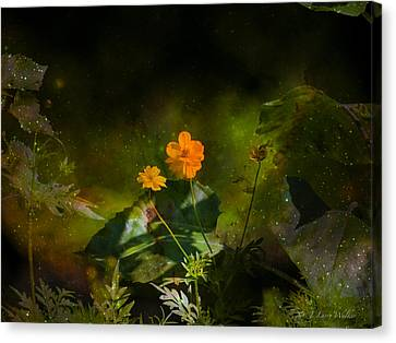 Canvas Print featuring the digital art Wildflower In The Twilight Zone by J Larry Walker