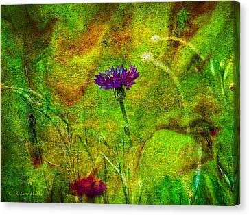 Canvas Print featuring the digital art Wildflower Pettifoggery by J Larry Walker