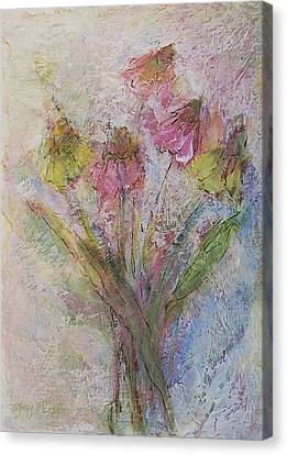Canvas Print featuring the painting Wildflowers 2 by Mary Wolf