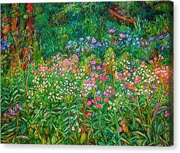 Wildflowers Near Fancy Gap Canvas Print by Kendall Kessler