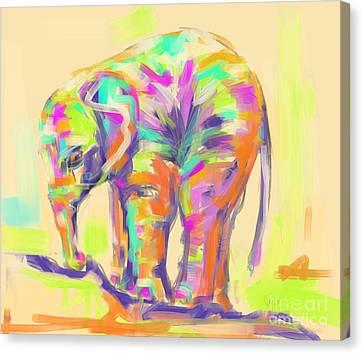 Wildlife Baby Elephant Canvas Print