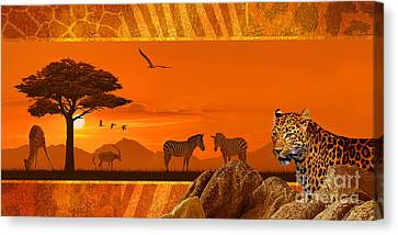 Africa Wildlife Decorative Canvas Print by Monika Juengling