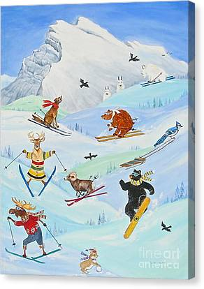 Wildlife Freestyle Canvas Print by Virginia Ann Hemingson