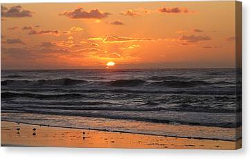 Canvas Print featuring the photograph Wildwood Beach Here Comes The Sun by David Dehner