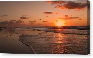 Canvas Print featuring the photograph Wildwood Beach Sunrise II by David Dehner