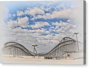 Wildwood Boardwalk Rollercoaster Canvas Print