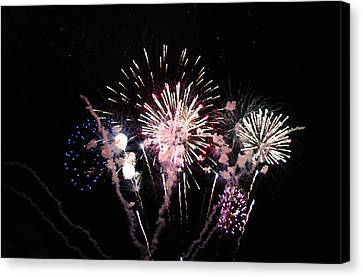 Canvas Print featuring the photograph Wildwood Fireworks by Greg Graham