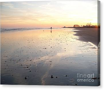Wildwood Surfer Canvas Print by Eric  Schiabor