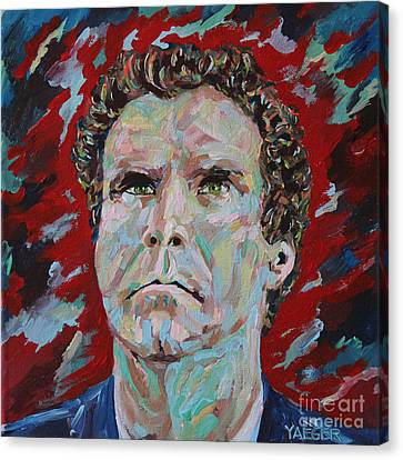 Will Ferrell Portrait Canvas Print by Robert Yaeger
