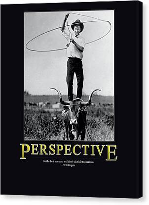 Will Rogers Perspective Canvas Print by Retro Images Archive