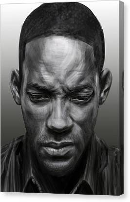 Sombre Canvas Print - Will Smith Reflecting by Adam Rodgers
