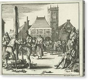 Willem Jansz. Climbs The Pyre, Amsterdam The Netherlands Canvas Print by Quint Lox