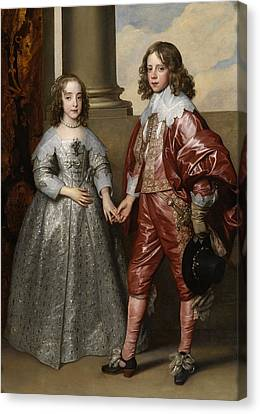 William And Mary Canvas Print - William And His Bride Mary Stuart by Anthony van Dyck