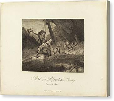 Blake Canvas Print - William Blake After George Romney British by Quint Lox