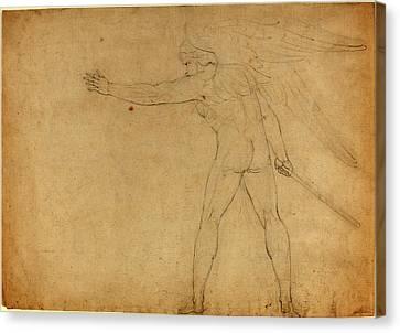 Blake Canvas Print - William Blake British, 1757 - 1827, A Warring Angel Recto by Quint Lox