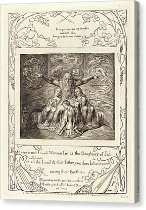 Blake Canvas Print - William Blake, British 1757-1827, Job And His Daughters by Litz Collection