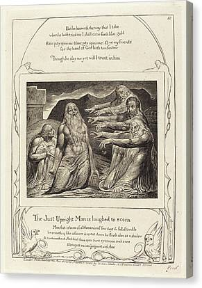 Blake Canvas Print - William Blake British, 1757 - 1827, Job Rebuked by Quint Lox
