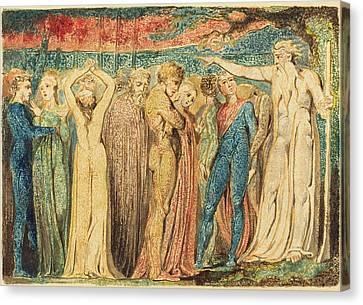 William Blake British, 1757 - 1827, Joseph Of Arimathea Canvas Print by Quint Lox