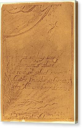 Blake Canvas Print - William Blake, British 1757-1827, Restrike From Fragment by Litz Collection