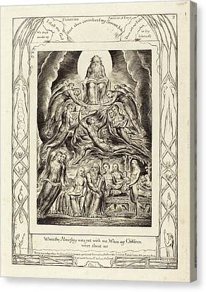 Blake Canvas Print - William Blake British, 1757 - 1827, Satan Before The Throne by Quint Lox