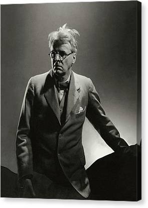 William Butler Yeats Wearing A Three-piece Suit Canvas Print