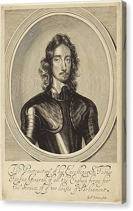 1616 Canvas Print - William Faithorne After Robert Walker English by Quint Lox