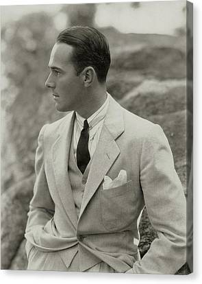 William Haines Wearing A Three-piece Suit Canvas Print