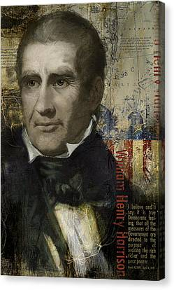 William Henry Harrison Canvas Print by Corporate Art Task Force