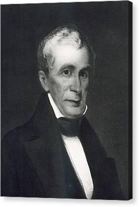 William Henry Harrison Canvas Print by Eliphalet Frazer Andrews