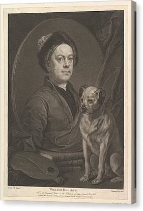 Stippling Canvas Print - William Hogarth by After William Hogarth