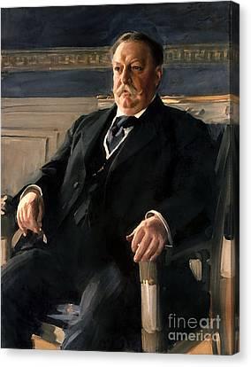 Taft Canvas Print - William Howard Taft by Anders Zorn