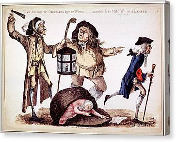 William Hunter And Body Snatching, 1773 Canvas Print by National Library Of Medicine