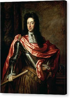 Cravat Canvas Print - William IIi Of Great Britain And Ireland Oil On Canvas by Sir Godfrey Kneller