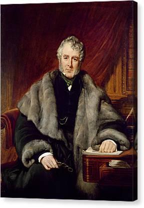 Cravat Canvas Print - William Lamb, 2nd Viscount Melbourne, 1844 Oil On Canvas by John Partridge