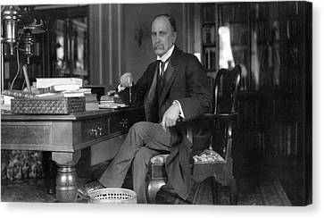 William Osler At Oxford University Canvas Print by National Library Of Medicine