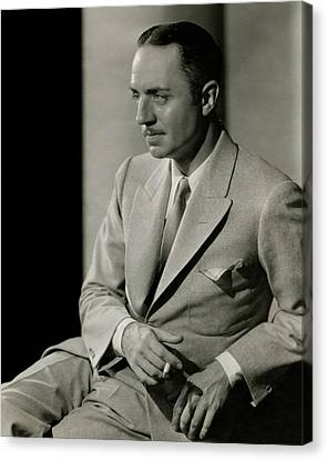 William Powell Wearing A Suit Canvas Print