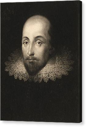 William Shakespeare  Canvas Print by Cornelius Jansen