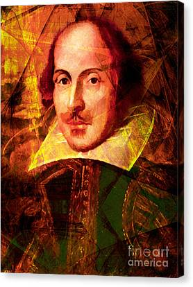William Shakespeare 20140122 Canvas Print by Wingsdomain Art and Photography