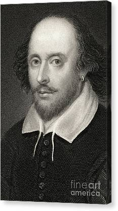 Aging Canvas Print - William Shakespeare by English School