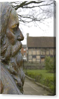 William Shakespeare Home Canvas Print by Mike McGlothlen