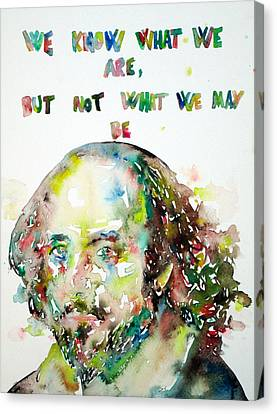 William Shakespeare Quoting Himself Canvas Print by Fabrizio Cassetta