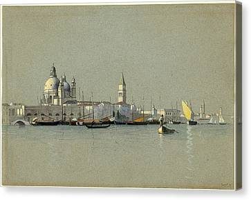 San Marco Canvas Print - William Stanley Haseltine, View Across The Giudecca Canal by Quint Lox