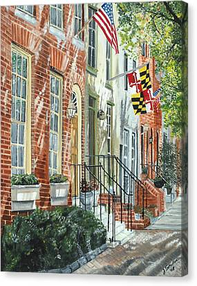 July 4th Canvas Print - William Street Summer by John Schuller