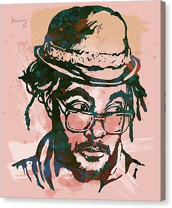 Will.i.am - Stylised Etching Pop Art Poster Canvas Print by Kim Wang