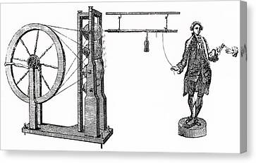 William Watson's Electrical Machine Canvas Print by Universal History Archive/uig