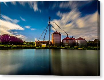 Williams Feed Mill Canvas Print by Randy Scherkenbach