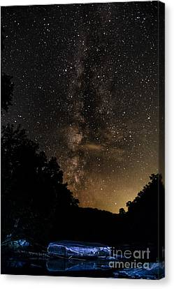 Trout Stream Landscape Canvas Print - Williams River Milky Way by Thomas R Fletcher