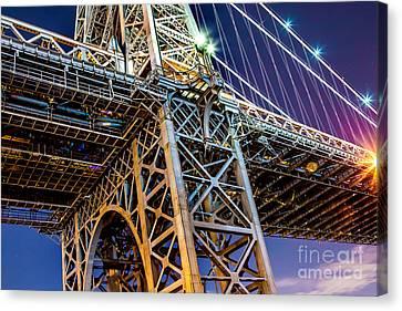 Williamsburg Canvas Print - Williamsburg Bridge 1 by Az Jackson